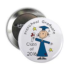 "Girl Pre-K Grad 2014 2.25"" Button"