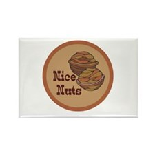 Nice Nuts Rectangle Magnet