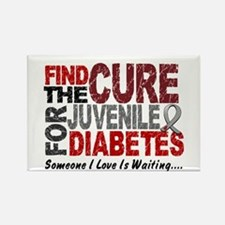 Find The Cure 1 JUV DIABETES Rectangle Magnet