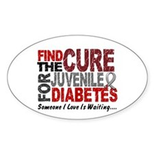 Find The Cure 1 JUV DIABETES Oval Bumper Stickers