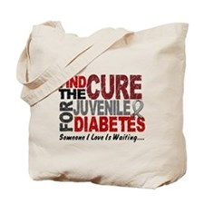 Find The Cure 1 JUV DIABETES Tote Bag