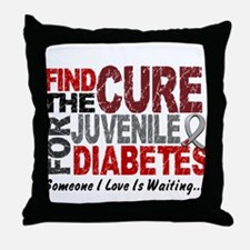 Find The Cure 1 JUV DIABETES Throw Pillow