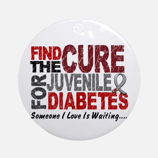 Find The Cure 1 JUV DIABETES Ornament (Round)