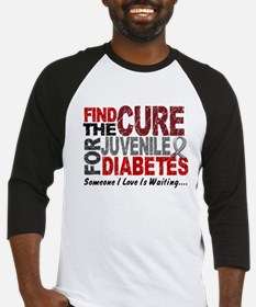Find The Cure 1 JUV DIABETES Baseball Jersey