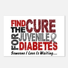 Find The Cure 1 JUV DIABETES Postcards (Package of