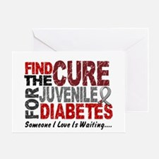 Find The Cure 1 JUV DIABETES Greeting Card