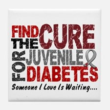 Find The Cure 1 JUV DIABETES Tile Coaster