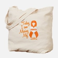 Missing My Grandson 1 LEUKEMIA Tote Bag