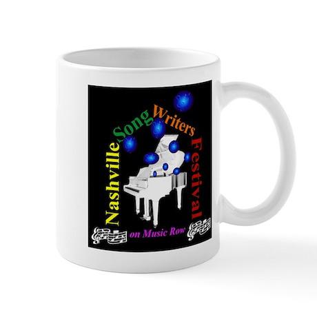 cafelogobubpianoonblack Mugs