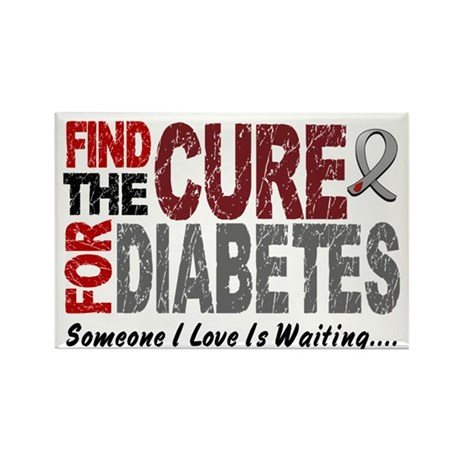 Find The Cure 1 DIABETES Rectangle Magnet