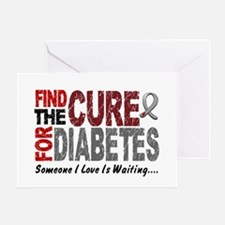 Find The Cure 1 DIABETES Greeting Card