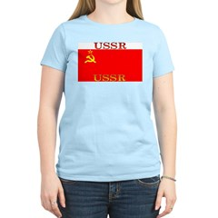 USSR Soviet Union Flag Women's Pink T-Shirt