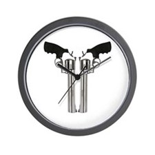 Stainless Back To Back Revolv Wall Clock
