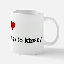 I Love my heart belongs to ki Mug