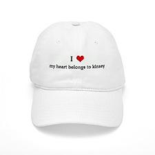 I Love my heart belongs to ki Baseball Cap