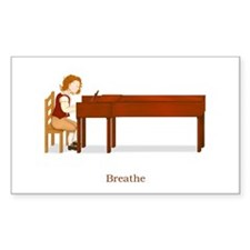A Pianist's Life (Breathe) Rectangle Decal