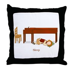 A Pianist's Life (Sleep) Throw Pillow