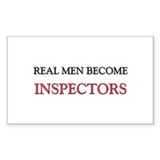 Real Men Become Inspectors Rectangle Decal