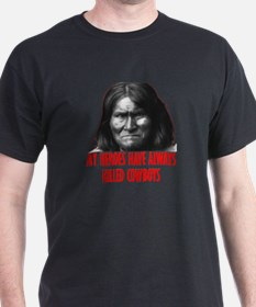 Geronimo's Heroes Black T-Shirt
