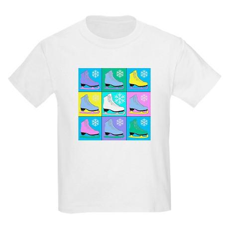 Frosty Colors Ice Skates Kids T-Shirt