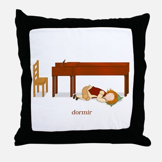 La Vie d'un Pianiste (Dormir) Throw Pillow