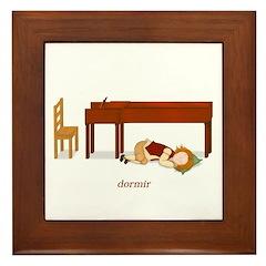 La Vie d'un Pianiste (Dormir) Framed Tile