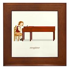 La Vie d'un Pianiste (Respirer) Framed Tile