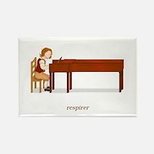 La Vie d'un Pianiste (Respirer) Rectangle Magnet