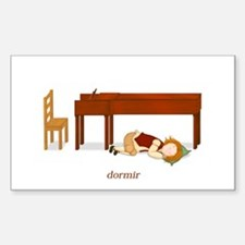 La Vie d'un Pianiste (Dormir) Rectangle Decal