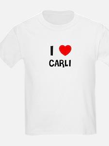 I LOVE CARLI Kids T-Shirt