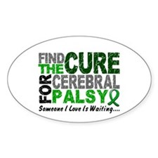 Find The Cure 1 CEREBRAL PALSY Oval Decal