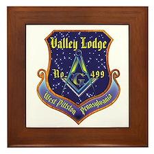 Masonic Valley Lodge Framed Tile