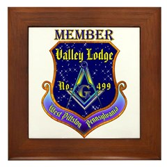 Masonic Valley Lodge Member Framed Tile