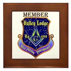 Masonic Valley Lodge Member Framed Tile