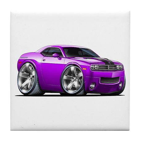 Challenger Purple Car Tile Coaster