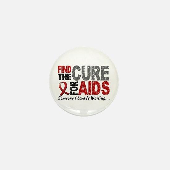 Find The Cure 1 HIV AIDS Mini Button