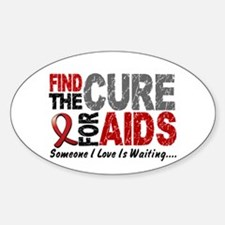 Find The Cure 1 HIV AIDS Oval Decal