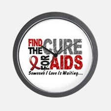 Find The Cure 1 HIV AIDS Wall Clock