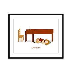 La Vita di un Pianista (Dormire) Framed Print