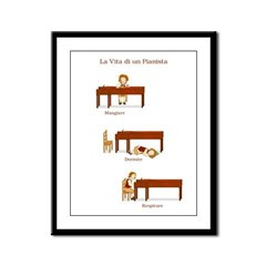 La Vita di un Pianista Framed Panel Print
