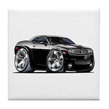 Challenger Black Car Tile Coaster