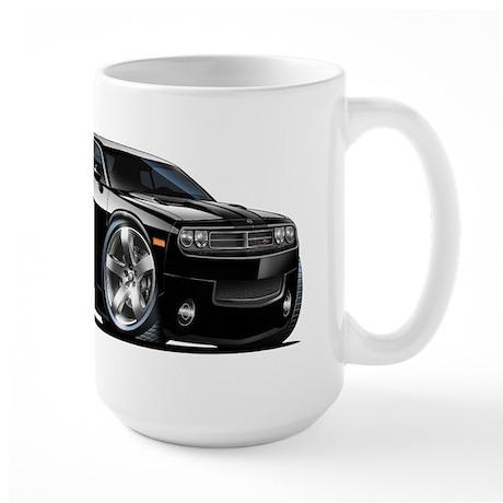 Challenger Black Car Large Mug
