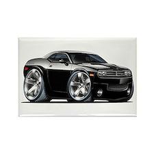 Challenger Black Car Rectangle Magnet