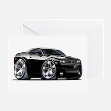 Challenger Black Car Greeting Card