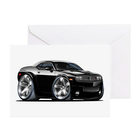 Challenger Black Car Greeting Cards (Pk of 20)