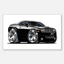 Challenger Black Car Rectangle Decal