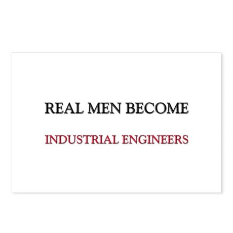Real Men Become Industrial Engineers Postcards (Pa