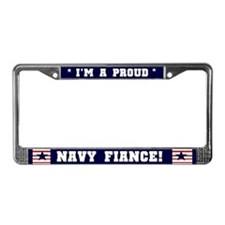 Proud Navy Fiance License Plate Frame