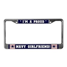 Proud Navy Girlfriend License Plate Frame