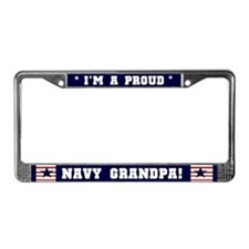 Proud Navy Grandpa License Plate Frame